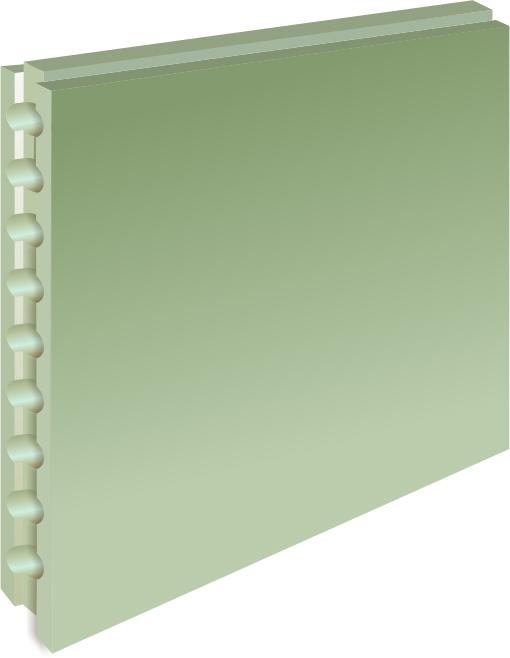 Купить Плита пазогребневая влагостойкая пустотелая 667х500х80 мм, Волма — Фото №1