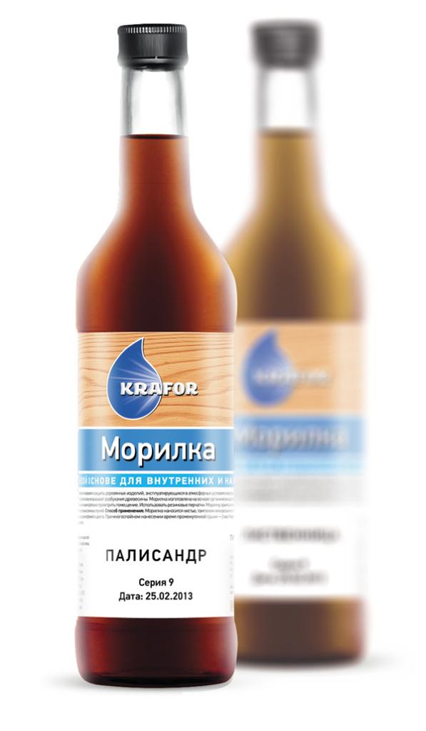 Krafor Морилка, 0.5 л, Пропитка деревозащитная лиственница