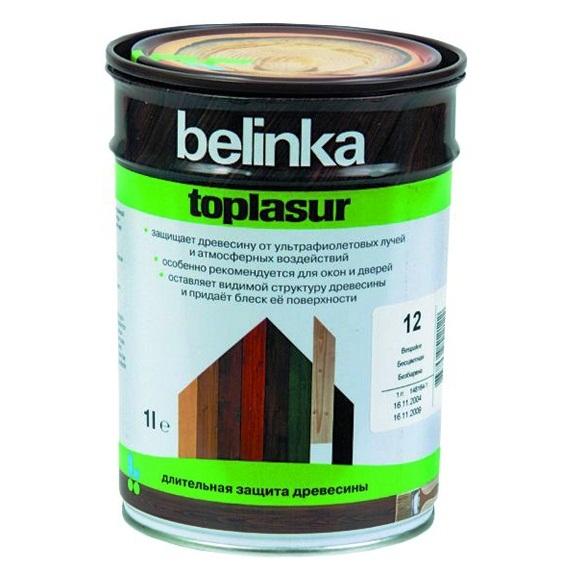 Belinka Toplasur №15, 1 л, Пропитка деревозащитная