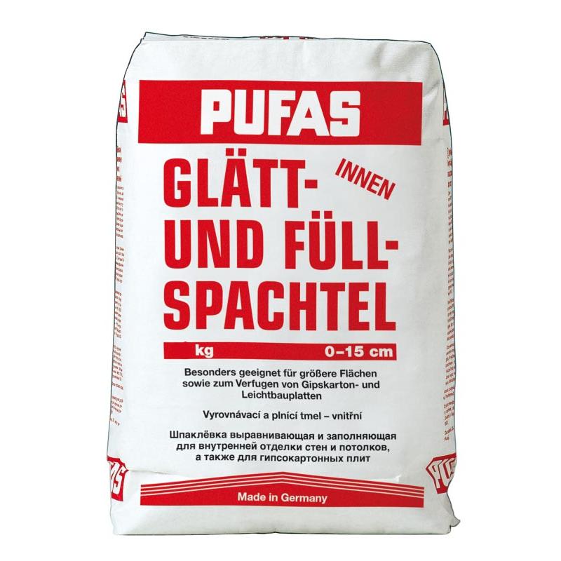Купить Шпатлевка гипсовая Pufas Glatt Und Full Spachtel (белая), 20 кг — Фото №1