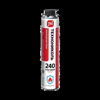 Купить Пена монтажная профессиональная огнестойкая Технониколь 240 Professional, 750 мл — Фото №1