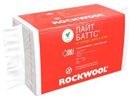 Купить Минеральная вата Rockwool Лайт Баттс, 1000х600х50 мм (10 шт/6 м2) — Фото №1