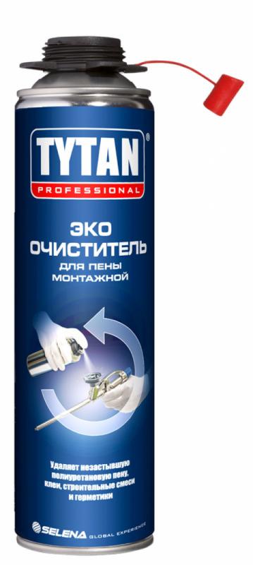 Очиститель полиуретановой пены Tytan Professional ЕСО, 500 мл