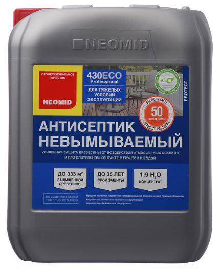 Купить Антисептик невымываемый консервирующий Neomid 430 Eco (зеленый), 5 кг — Фото №1