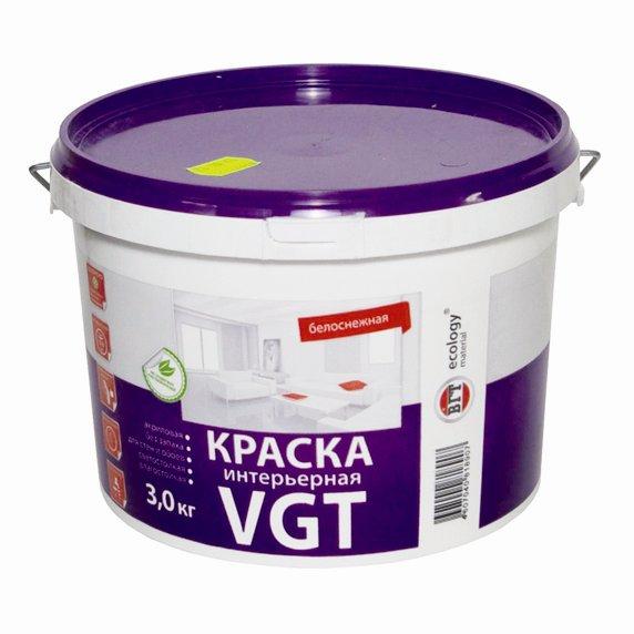 Купить Краска интерьерная VGT ВД-АК-2180 для стен, 15кг — Фото №1