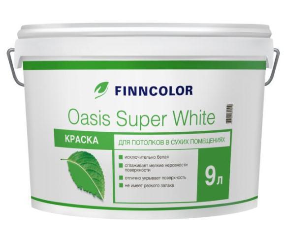Купить Краска интерьернаяFinncolor Oasis Super White, 9 л — Фото №1