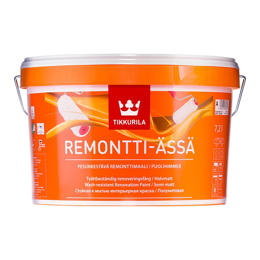 Купить Краска интерьерная Tikkurila Ремонтти-Ясся, 9 л — Фото №1