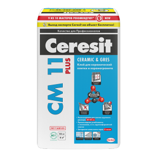 Купить Клей для плитки Ceresit CM 11 Plus, 25 кг — Фото №1