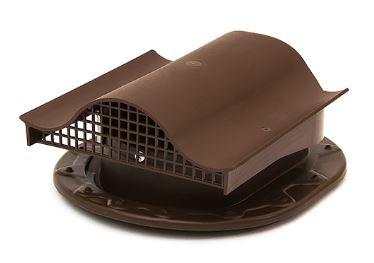 Купить Аэратор Поливент КТВ-вентиль для кровли из гибкой черепицы (коричневый), 250х160 мм