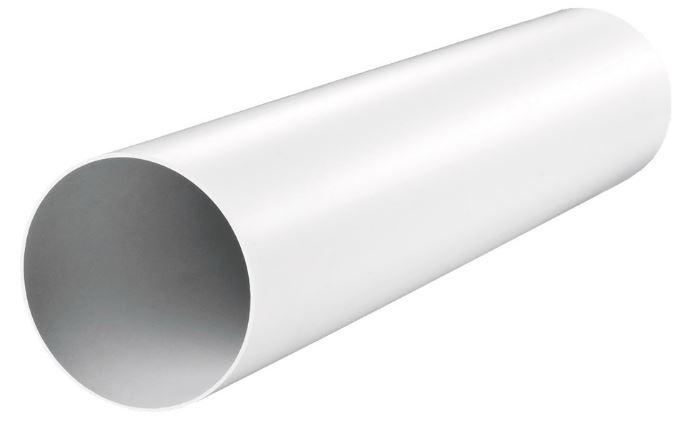 Купить Воздуховод круглый пластиковый, диаметр 100 мм (1 м) — Фото №1