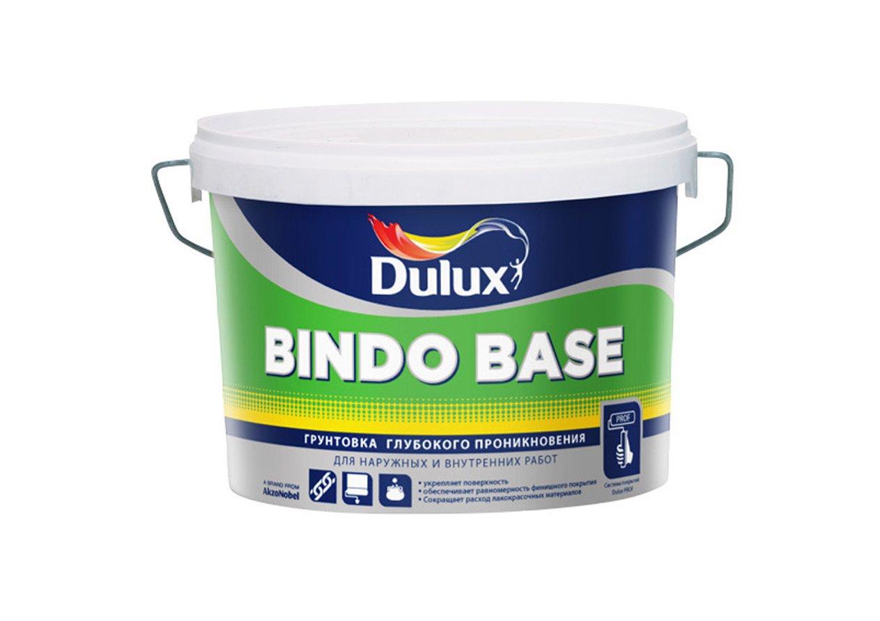 Купить Грунтовка глубокого проникновения акриловая Dulux Bindo Base (прозрачная), 10 л — Фото №1