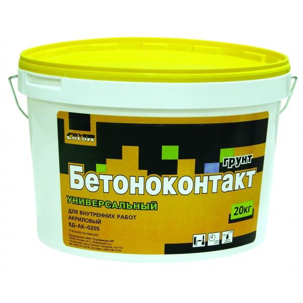 Купить Грунтовка для бетона акриловая Cover ВД-АК-0205 Бетоноконтакт, 6 кг — Фото №1