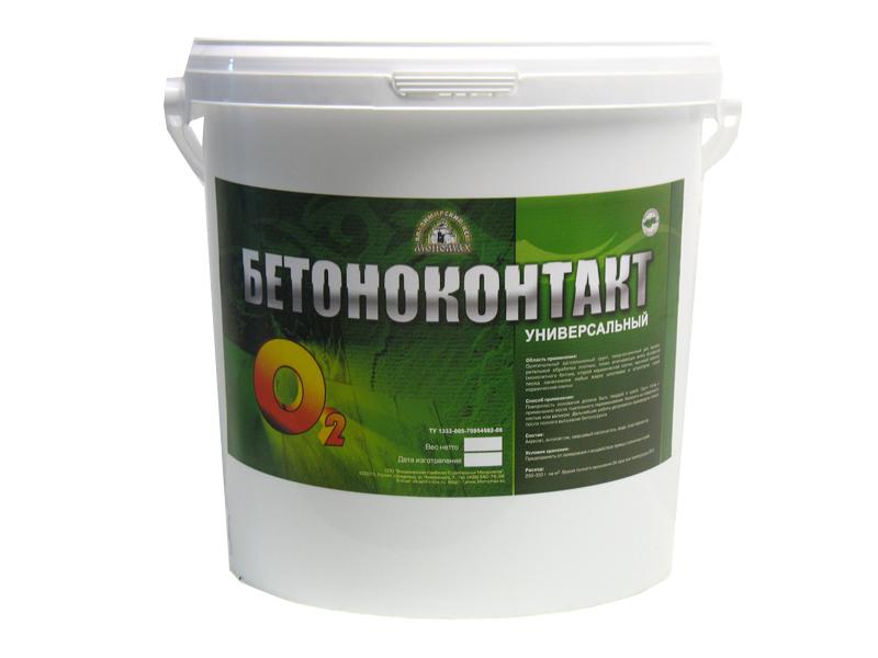 Купить Грунтовка для бетона акриловая Мономах Бетоноконтакт О2, 5 кг — Фото №1
