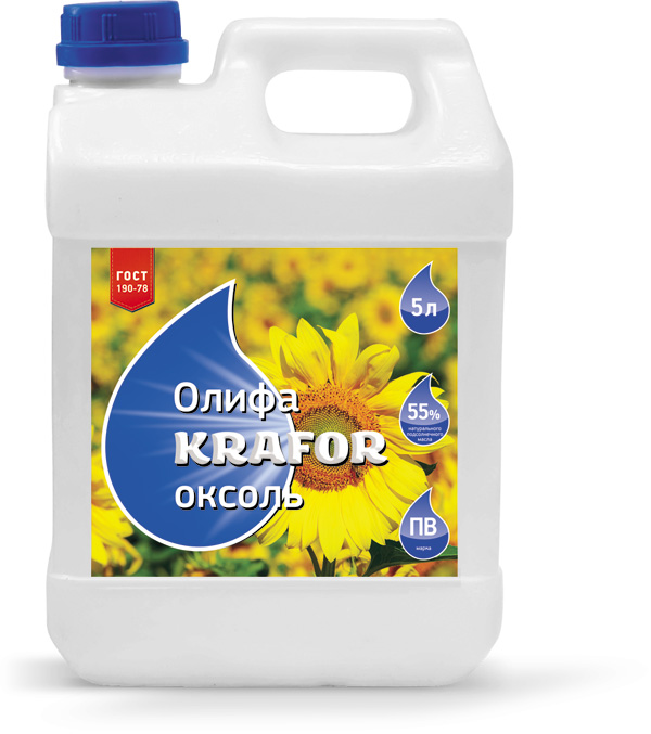 Олифа Krafor Оксоль, 0.5 л