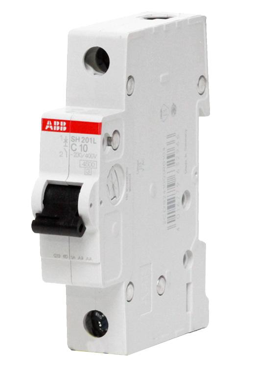 Купить Выключатель автоматический 1P ABB SH201L, номинал 16А, тип C — Фото №1