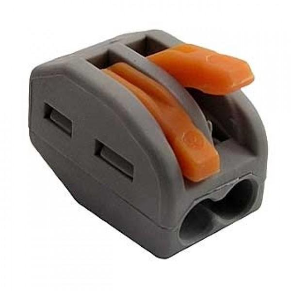 Купить Клемма многоразовая Wago 222-412, 2 контакта — Фото №1
