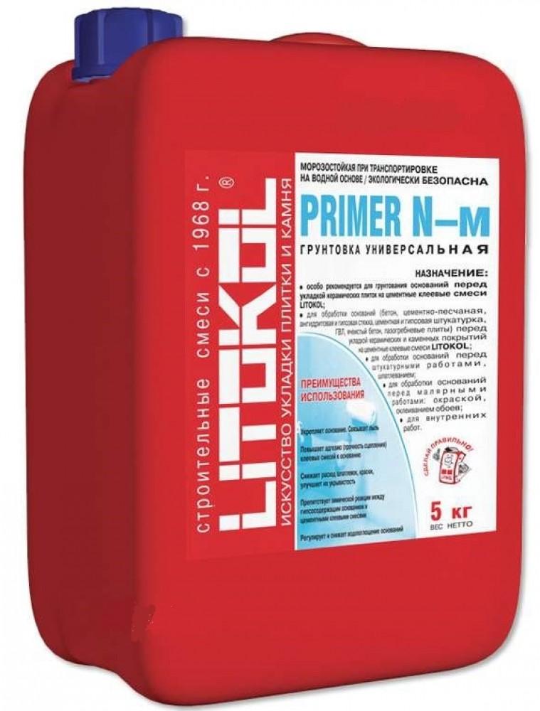Купить Грунтовка универсальная акриловая Litokol Primer N-м (белая), 10 кг — Фото №1