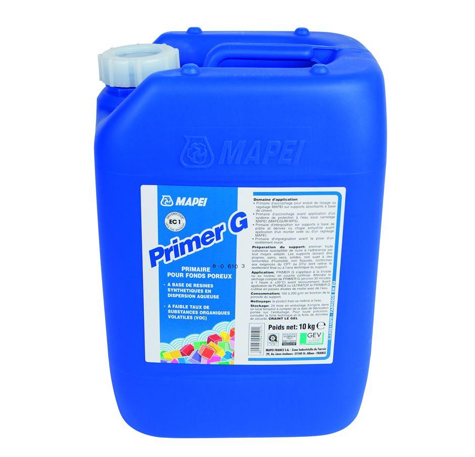 Купить Грунтовка универсальная Mapei Primer G (голубая), 10 кг — Фото №1