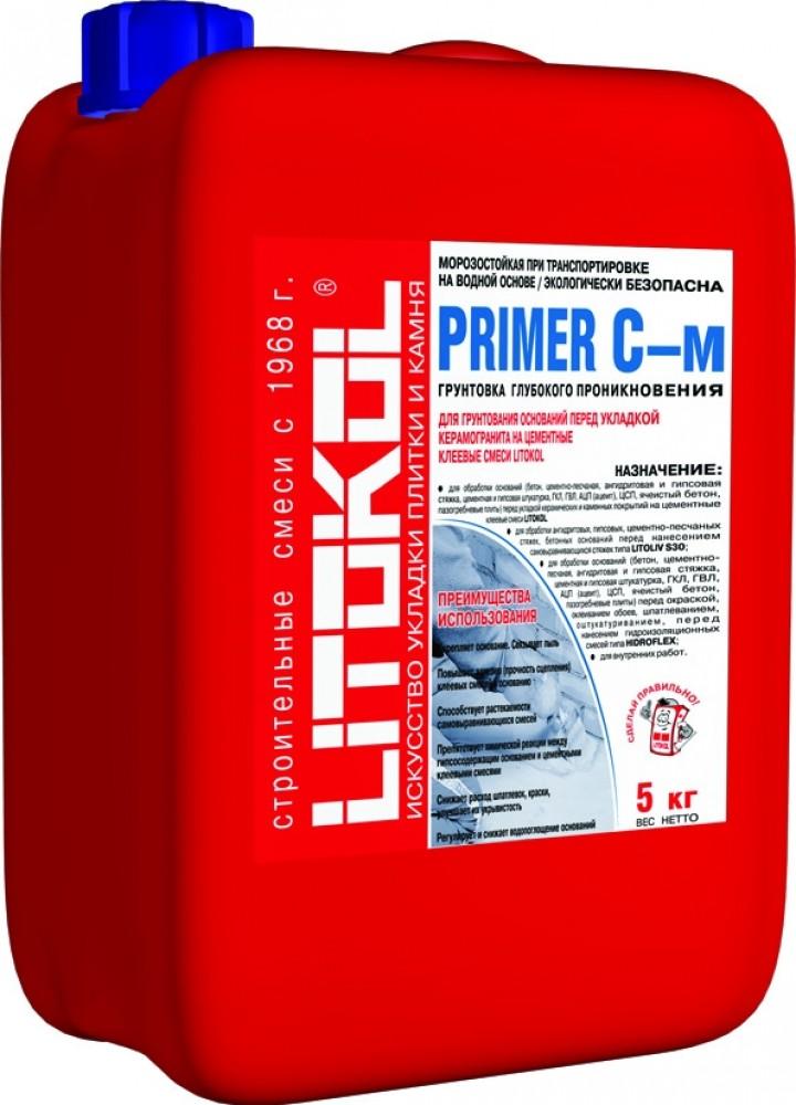 Купить Грунтовка глубокого проникновения Litokol Primer C-м (белая), 5 кг — Фото №1