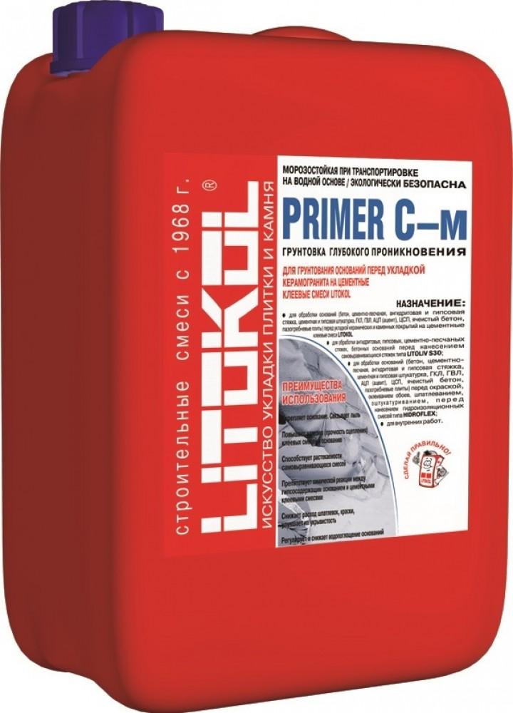 Купить Грунтовка глубокого проникновения Litokol Primer C-м (белая), 10 кг — Фото №1