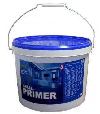 Купить Грунтовка глубокого проникновения Ареал Primer (белая), 10 кг — Фото №1