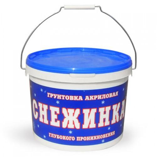 Купить Грунтовка глубокого проникновения акриловая Снежинка (белая), 10 л — Фото №1