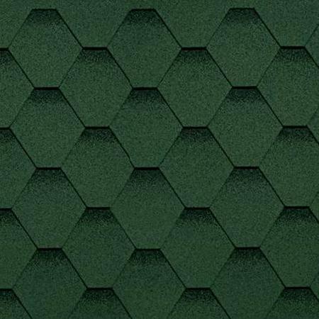 Купить Гибкая черепица однослойная, цвет зеленый, производитель Shinglas, коллекция классик кадриль — Фото №1