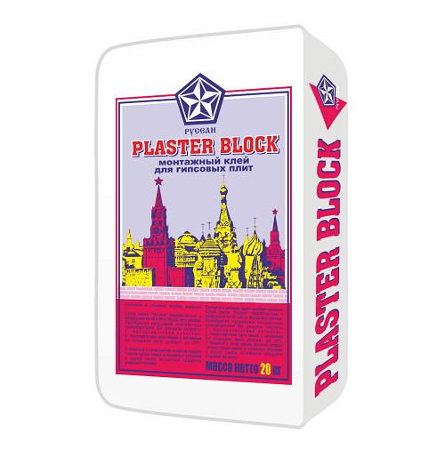 Купить Смесь монтажная гипсовая Русеан Plaster Block, 20 кг — Фото №1