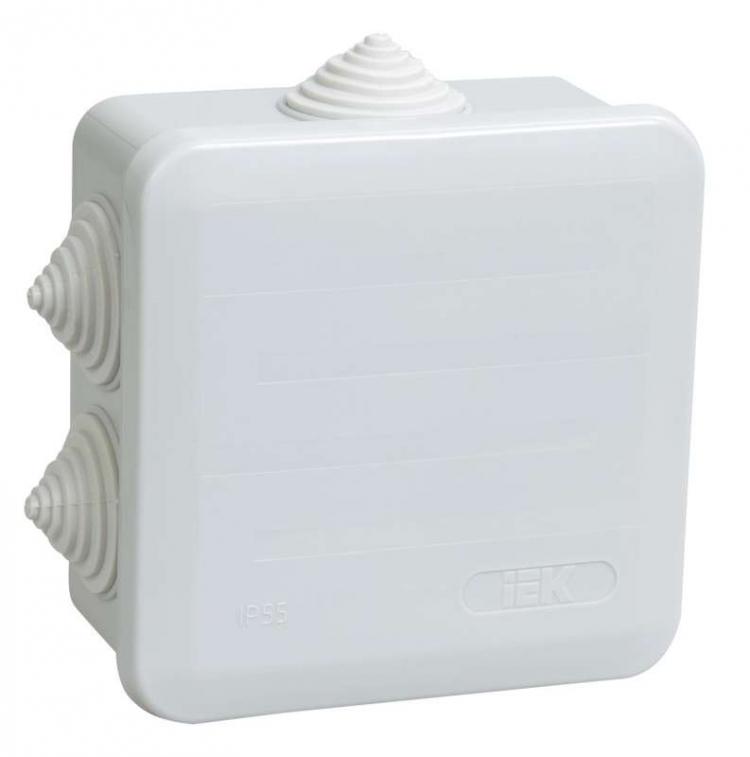 Купить Коробка распаячная наружная IEK КМ41233, 100х100 мм