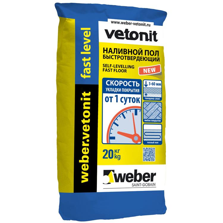 Купить Наливной пол Weber.Vetonit Fast Level, 20 кг — Фото №1