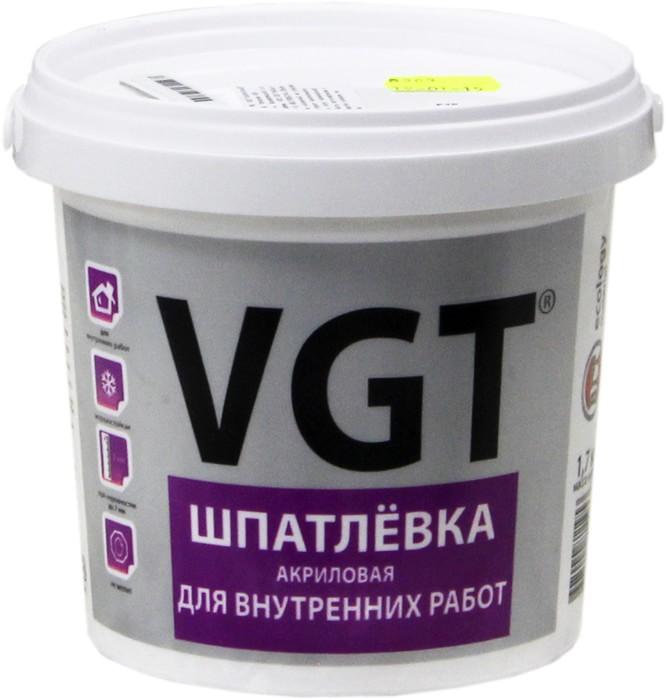 Шпатлевка готовая универсальная ВГТ Для внутренних работ, 1.7 кг