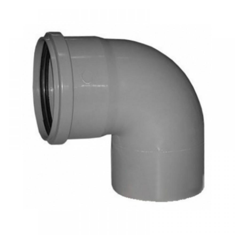 Купить Отвод канализационный, диаметр 110 мм (угол 90°) — Фото №1
