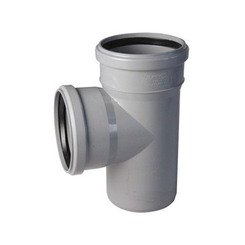 Купить Тройник канализационный, диаметр 110 мм (угол 90°) — Фото №1